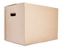 Moving or Storage Box on White Royalty Free Stock Image