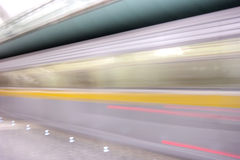 Moving subway train Stock Photography