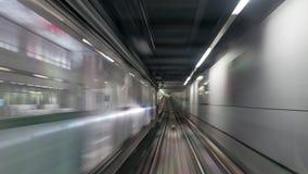 Moving subway train Stock Photography