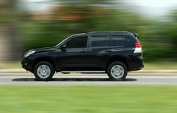 Moving suv Stock Image
