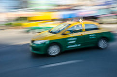 Moving Thai taxi. Royalty Free Stock Photo