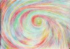 Moving to another space. The picture is made by multi-color pencils on paper. The image size is about A4 Stock Photos