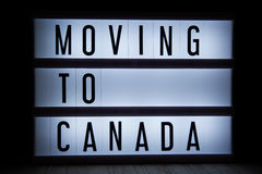 Moving to Canada Stock Photos