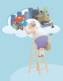 Moving to the cloud Stock Photos