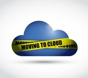 Moving to cloud sign illustration design Royalty Free Stock Photos