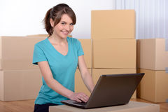 Moving to house Stock Images