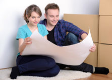 Moving to house Royalty Free Stock Image