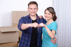 Moving to house Royalty Free Stock Photos
