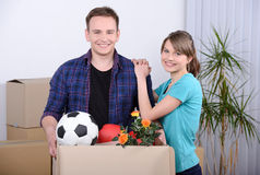 Moving to house Stock Photography