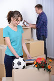 Moving to house Stock Image