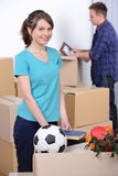 Moving to house Royalty Free Stock Images