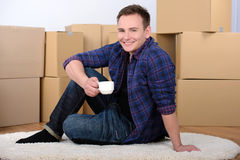 Moving to house Royalty Free Stock Photography