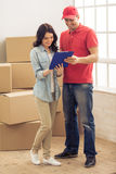 Moving to a new apartment Stock Photography
