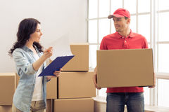 Moving to a new apartment Royalty Free Stock Photography