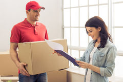 Moving to a new apartment Stock Photo