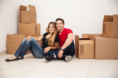 Moving to a new home Stock Photos