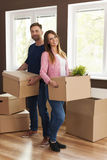 Moving in to new home Royalty Free Stock Image