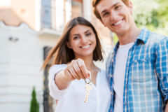 Moving to a new house. stock image