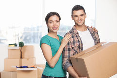 Moving to a new house. Royalty Free Stock Image