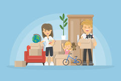 Moving to new house. relocation Royalty Free Stock Photos