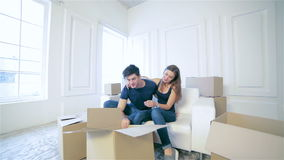 Moving to a new house and repairs in the apartment Royalty Free Stock Photos