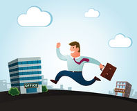 Moving to the new office Stock Images