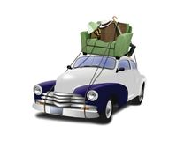 Moving to new place. Image of a car moving things to new place Royalty Free Stock Photography