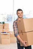 Moving to a new place. Royalty Free Stock Images