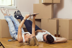 Moving in together Stock Images