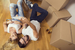 Moving in together Stock Image
