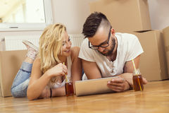 Moving in together Royalty Free Stock Image