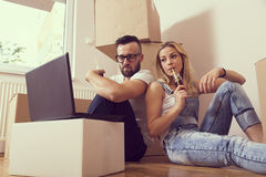 Moving in together Stock Photography