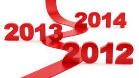 Moving towards 2014 Royalty Free Stock Photo
