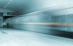 Moving train Stock Image