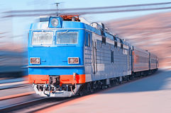 Moving Train Stock Image