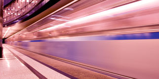 Moving train Royalty Free Stock Image