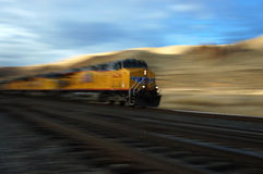 Moving train Stock Photos