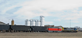 Moving Train in Country Royalty Free Stock Photo