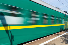 Moving the train Stock Photography