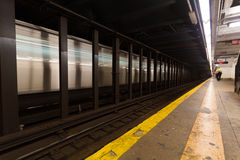 Moving Train in New York Subway Stock Photos