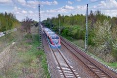 Moving Train Royalty Free Stock Photos