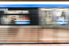 Moving Train In Subway Station Stock Images