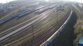 Moving train stock footage