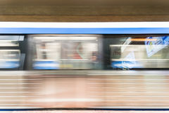 Moving Train In University Square Subway Station Stock Image