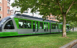 Moving tram. Stock Images