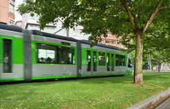 Moving tram. Stock Photography