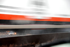 Moving truck blur. Motion blur of fast moving truck Stock Photography