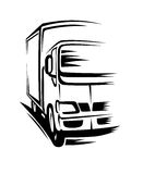 Moving truck. Delivery truck moving on road for transportation concepts Stock Photography