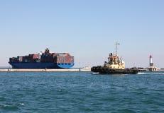Moving Tugboat Royalty Free Stock Photo