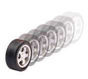 Moving tyres Royalty Free Stock Photo